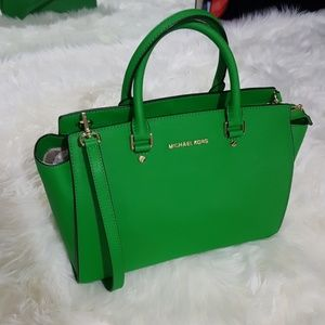 Michael Kors Selma palm green